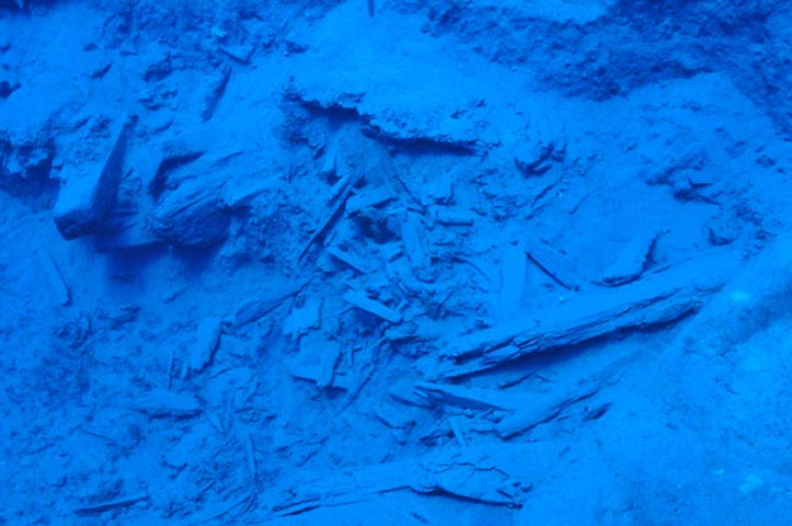 Mentor shipwreck: The area of the Trench 1/2017 with the wooden pieces of the ship. Credit: Ministry of Culture and Sports