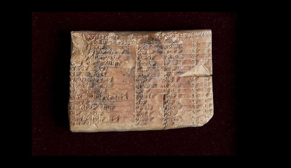The 3,700-year-old Babylonian tablet Plimpton 322 at the Rare Book and Manuscript Library at Columbia University in New York. Credit: UNSW/Andrew Kelly usage restrictions