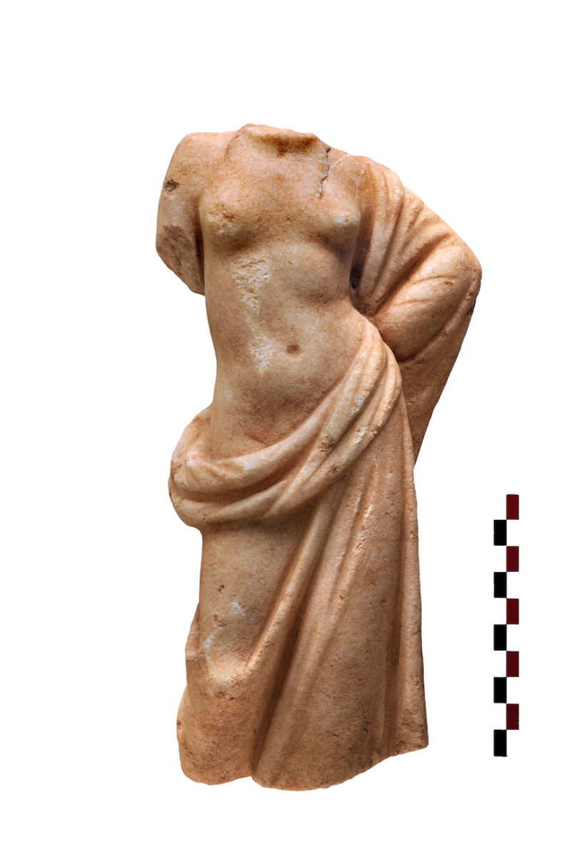 Fig. 14. Marble statuette of a semi-nude Aphrodite.