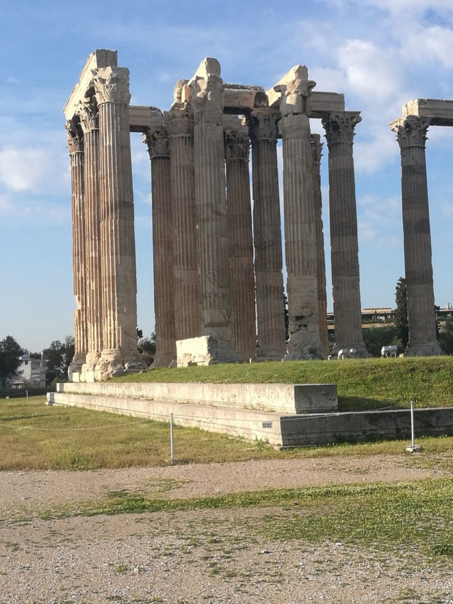 The Temple of Olympian Zeus, one of the most significant and ancient sanctuaries of Athens (photo: Ephorate of Antiquities of Athens).