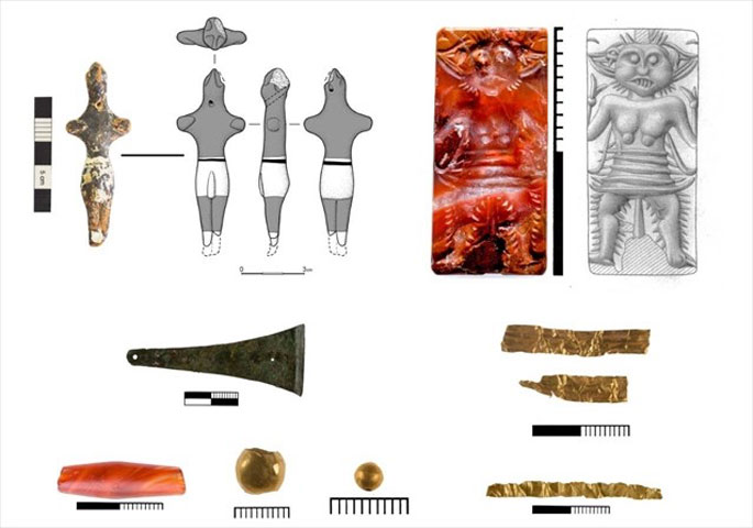 Excavation finds at Petras. Photo: Ministry of Culture and Sports.