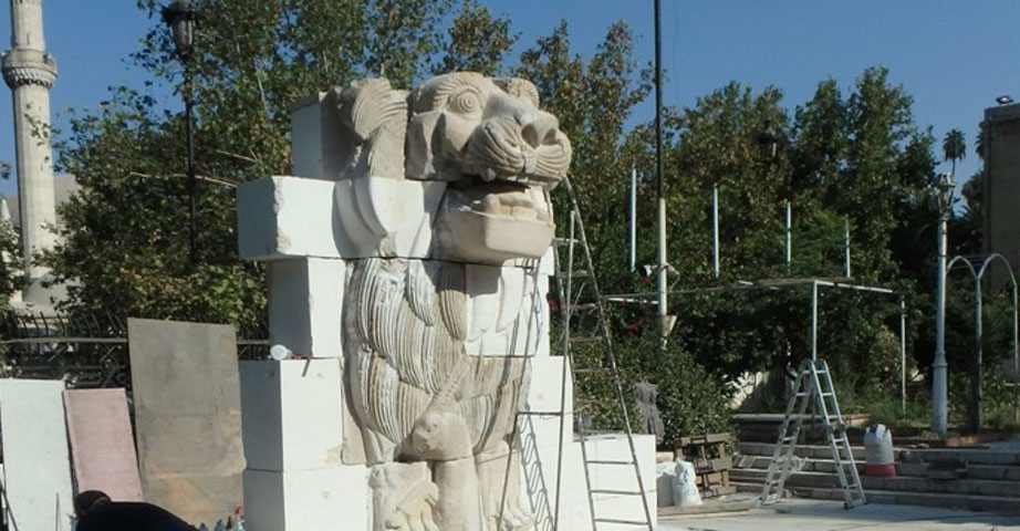 """The """"Lion of Al Lat"""" at the Museum of Damascus (photo: UNESCO)"""