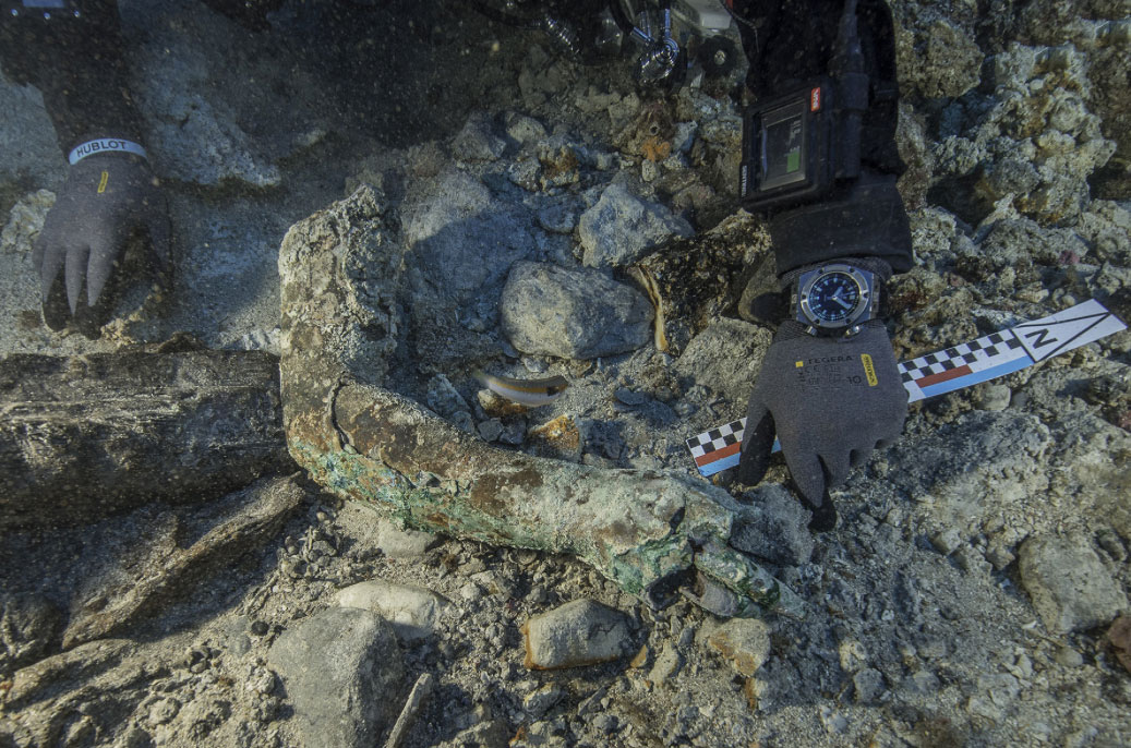Finds from the excavation at the site of the Shipwreck of Antikythera (photo: Ministry of Culture and Sports)
