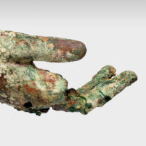 Parts of statues found in the Shipwreck of Antikythera