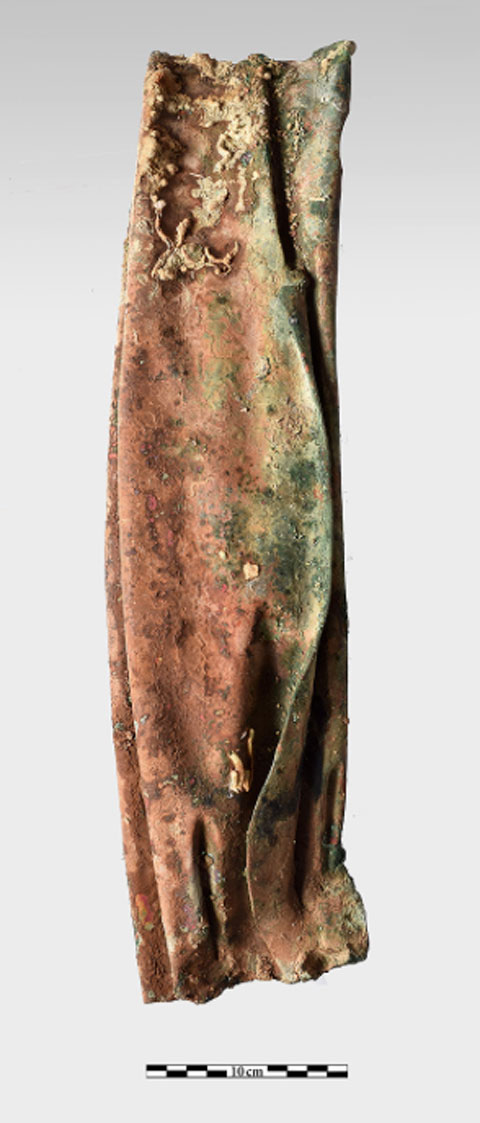 Bronze detail of folds from a garment, belonging to a statue (photo: Ministry of Culture and Sports)