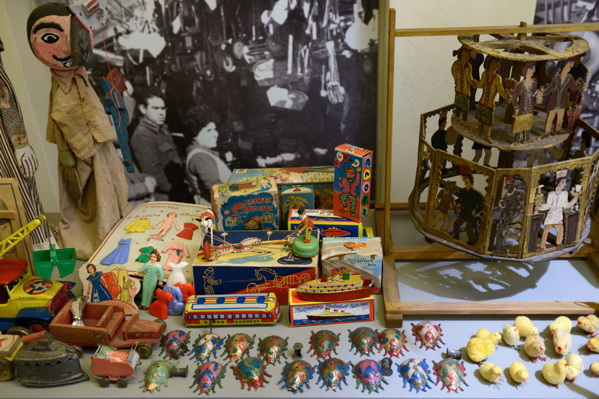 View of the exhibition at the Toy Museum.