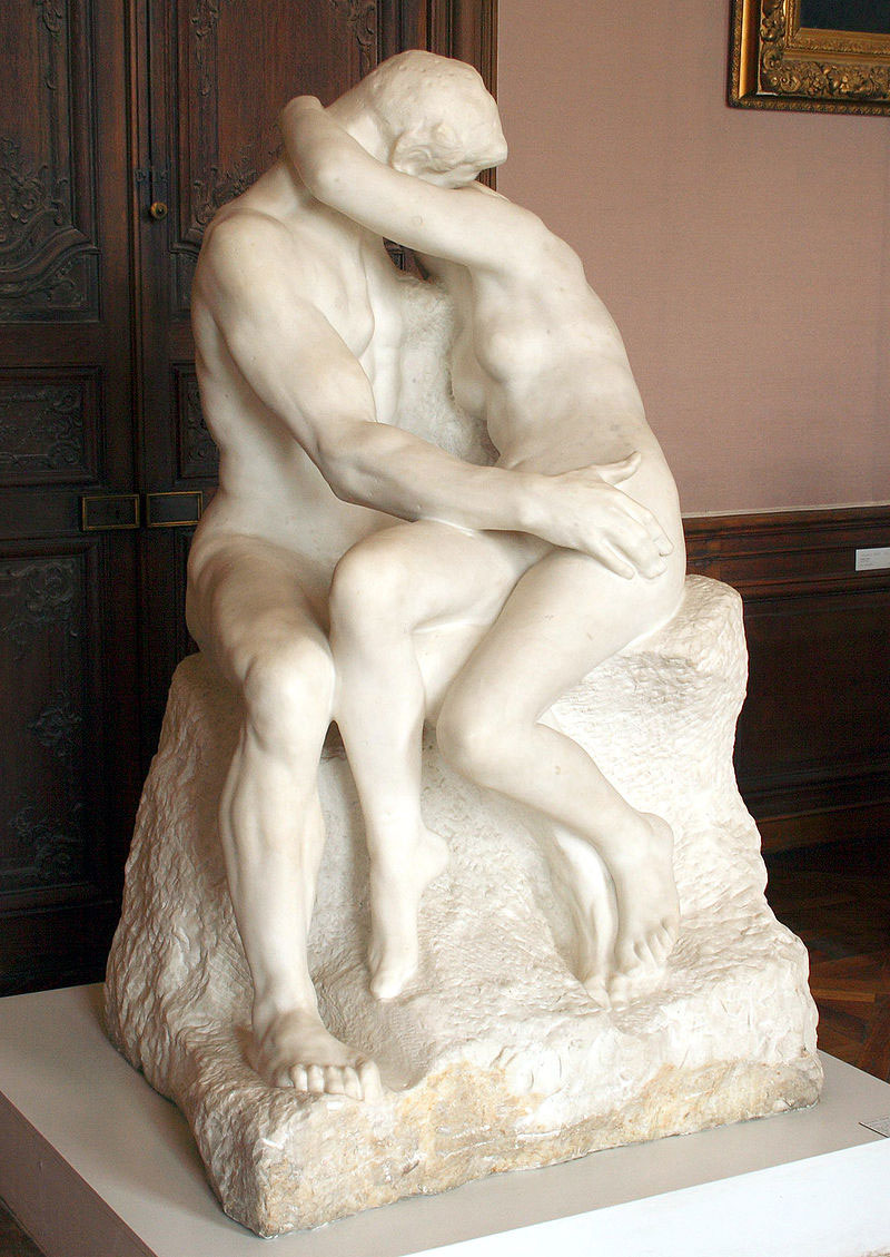 """The Kiss"" sculpture by Auguste Rodin, 1882, Rodin Museum, Paris."
