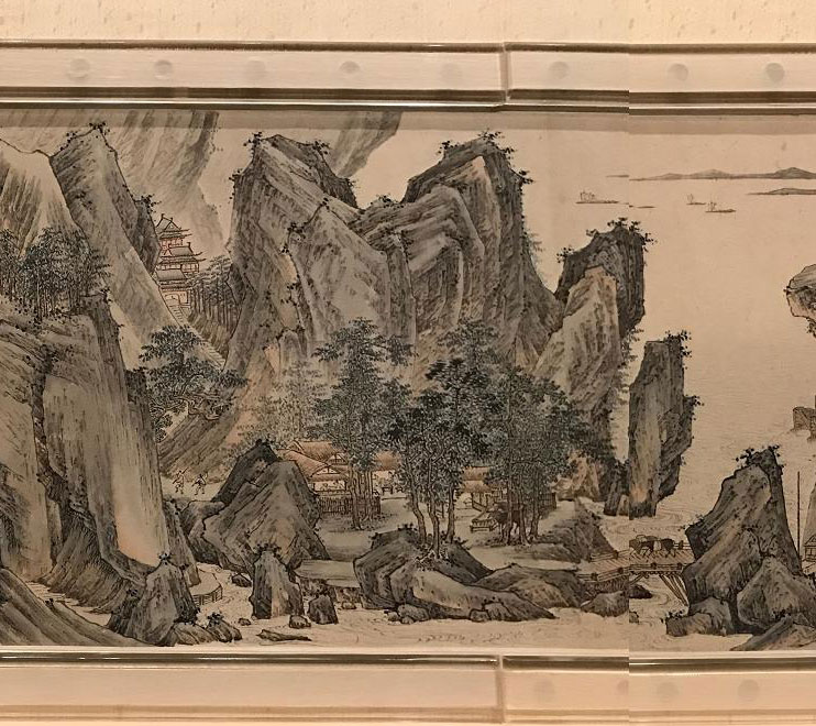 Detail from the painted paper scroll. Credit: Zhang Xudong Shanghai Museum