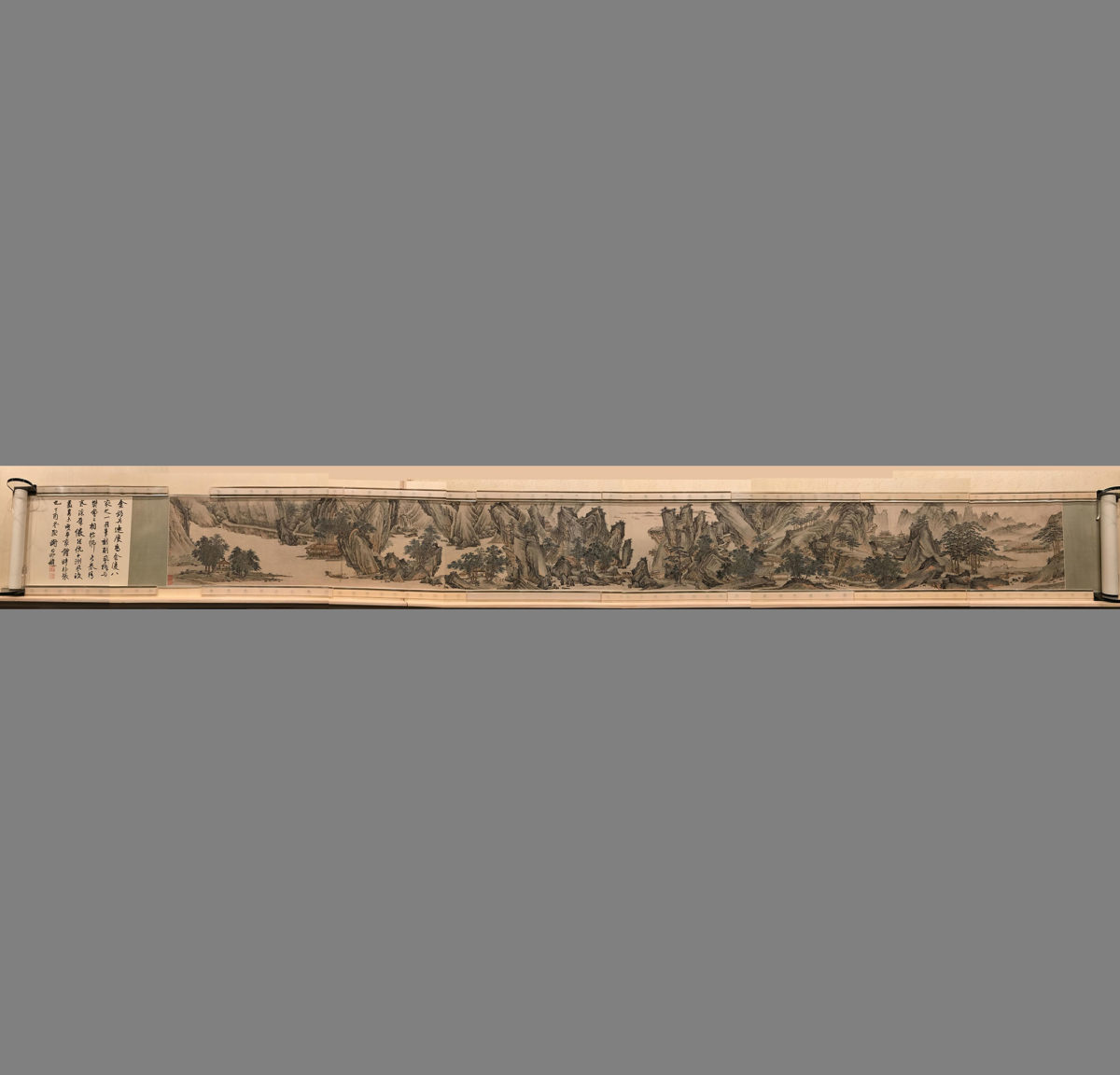 Painted paper scroll. Credit: Zhang Xudong Shanghai Museum