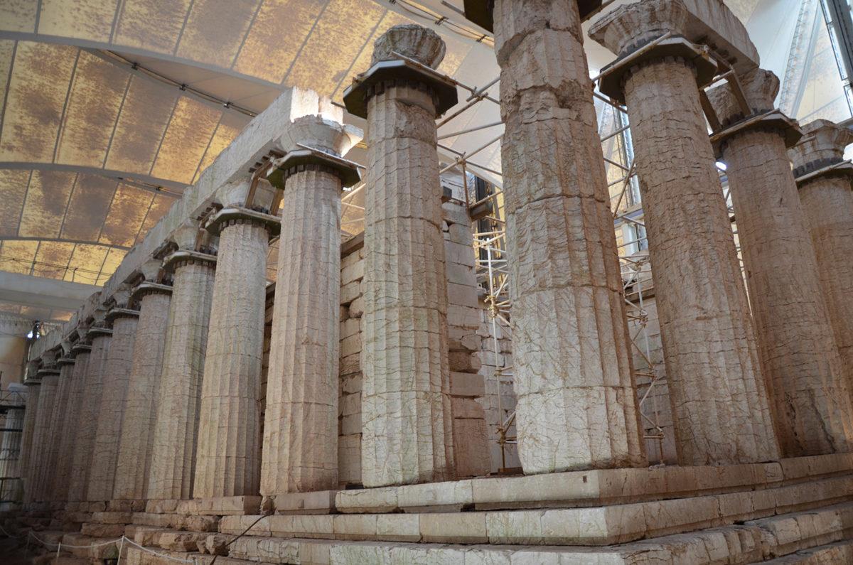 The Temple of Apollo Epikourios at Bassae, Arcadia, Greece.
