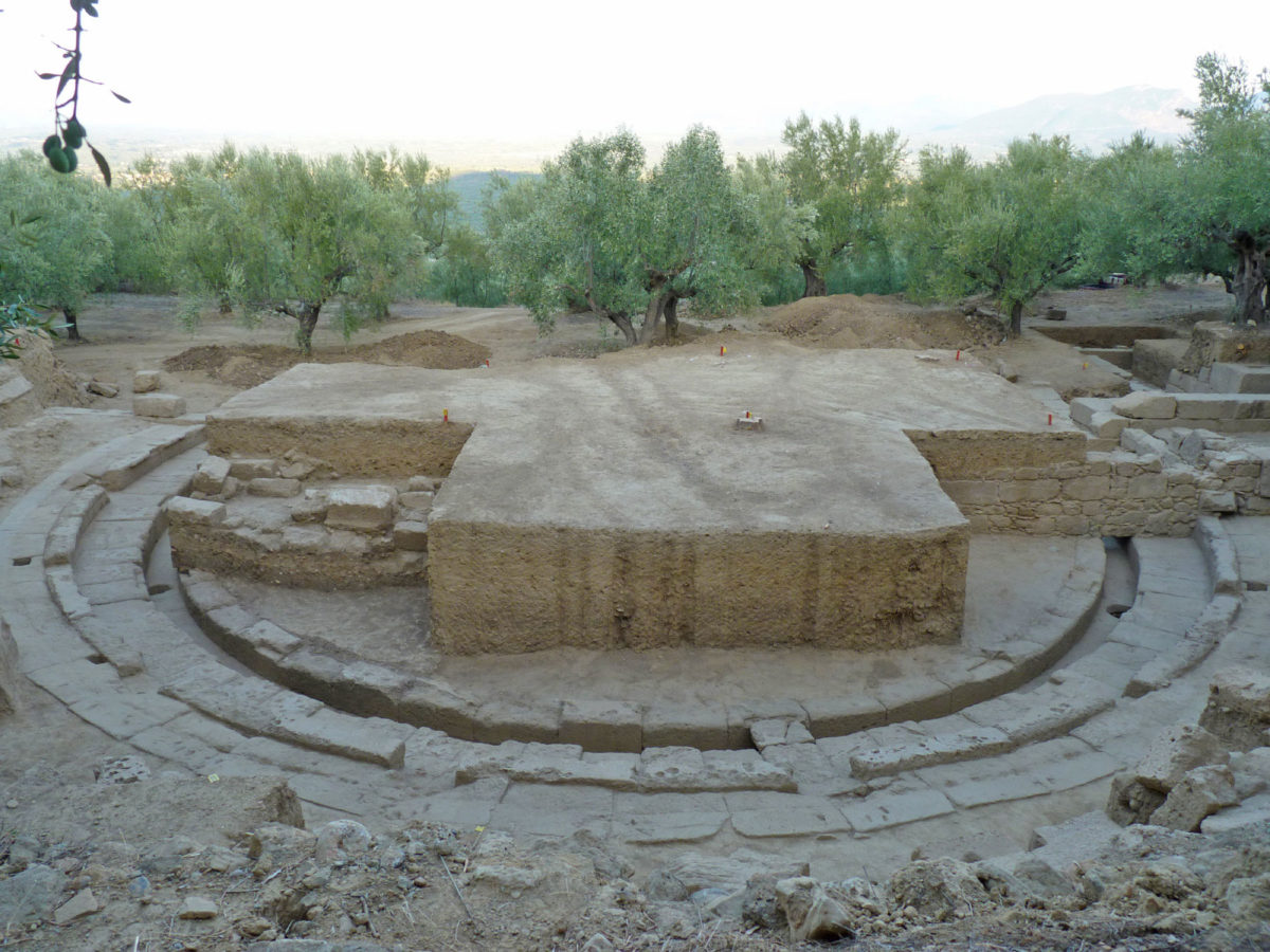 View of the theatre of ancient Thouria (photo: Ministry of Culture and Sports).