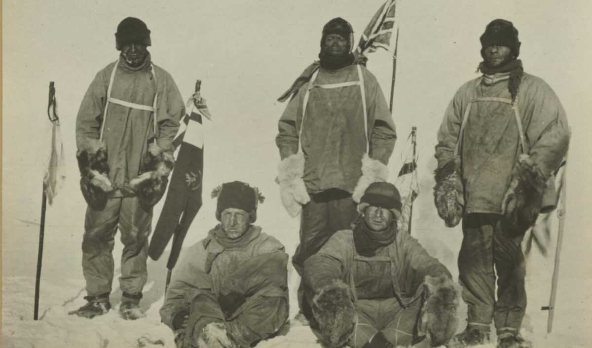 Scott and his team who all died on the return from the South Pole. Credit: National Library
