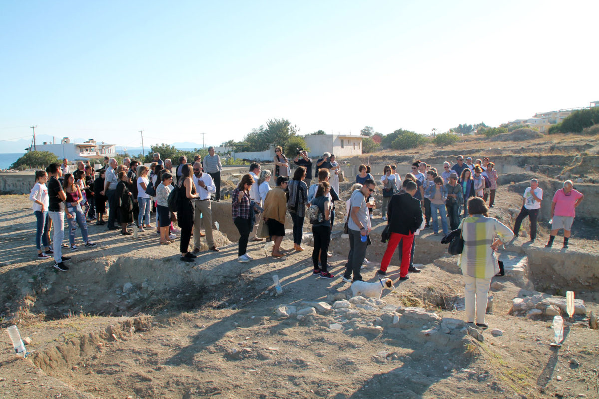 The two day conference included a guided tour for the public by the heads of the excavation G. Kokkorou-Alevra, S. Kalopisi-Verti and M. Panagiotidi-Kesisoglou.