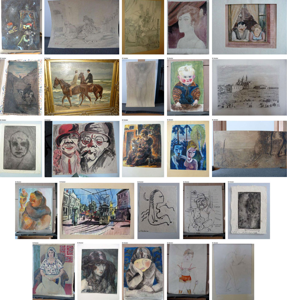 A sample of the masterpieces found in Gurlitt's house. Among others we encounter paintings by Chagall, Picasso, Matisse, Kretzschmar, Monet et al.