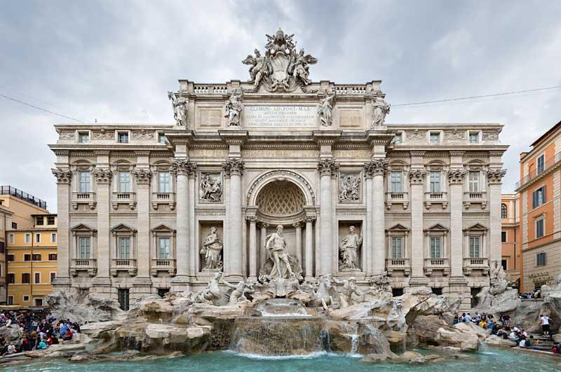 The Fontana di Trevi.