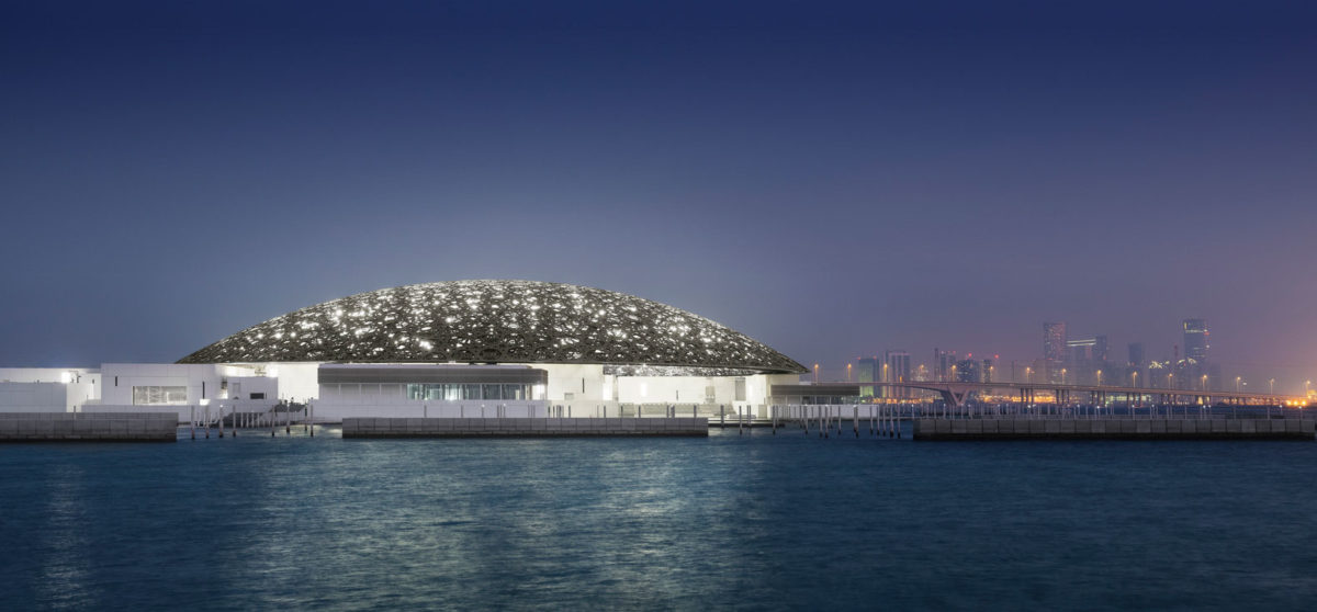 The Abu Dhabi Louvre, designed by the French architect Jean Nouvel.