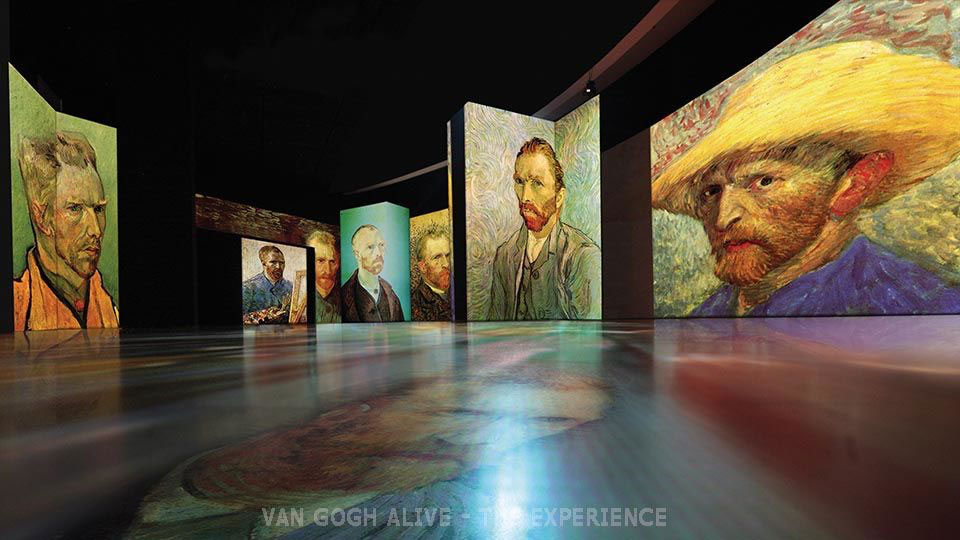 """Photograph from the """"Van Gogh Alive"""" exhibition (source: LAVRIS)"""