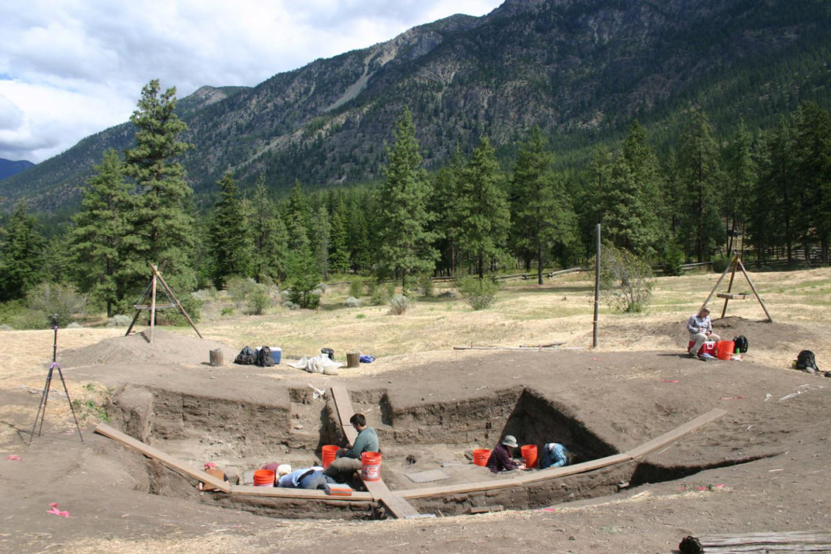 A newly-published article in Nature on historical social inequality includes data from University of Montana excavations at Bridge River, British Columbia. Credit: Courtesy of Anna Prentiss