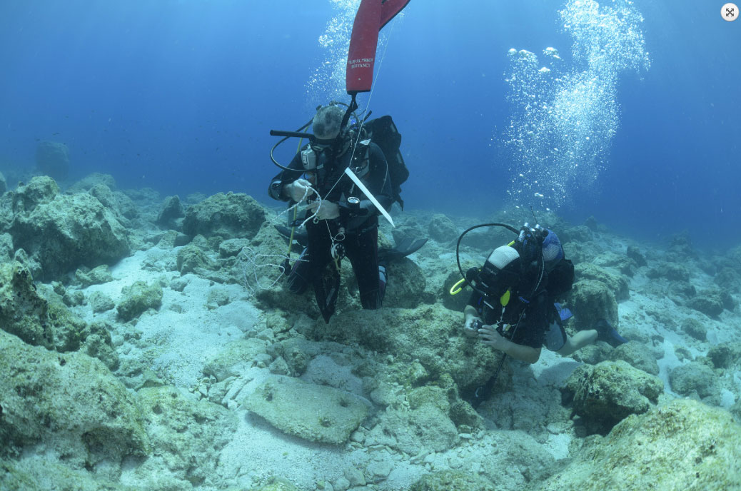 From the underwater surveys on the south coast of Naxos (Photo: Ephorate of Underwater Antiquities/ Oslo University).
