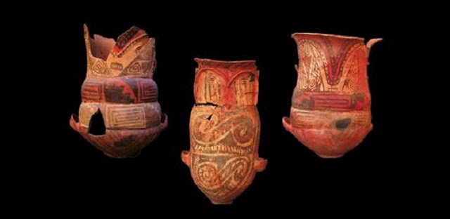 Urns from the Museo Arqueológico de Cachi in Argentina. Credit: Museo Arqueológico de Cachi