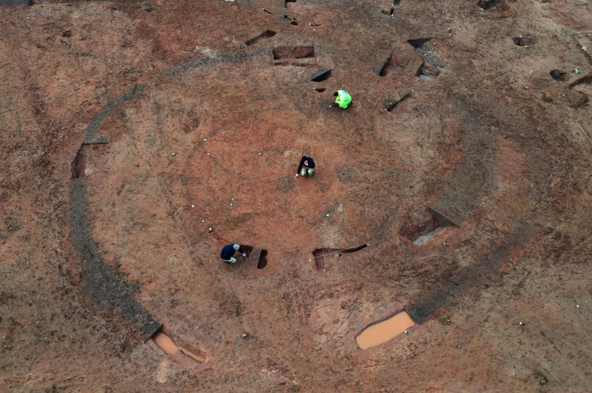 Aerial shot of Glenfield Park Roundhouse. Image credit: ULA