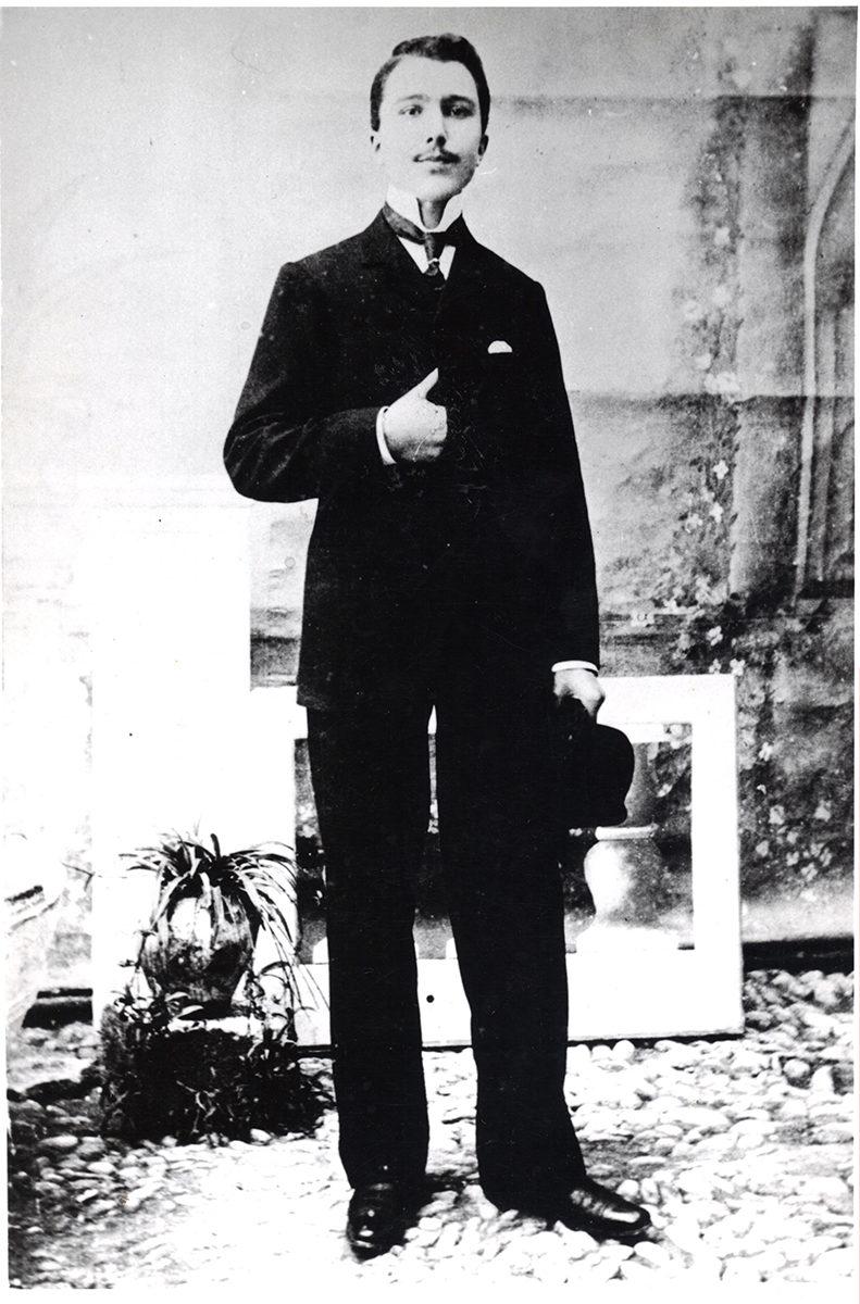 Nikos Kazantzakis, first-year student in Athens, 1902.