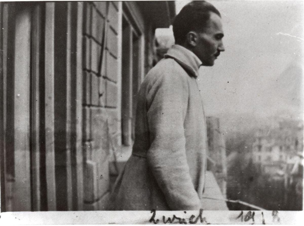 Nikos Kazantzakis in Zurich, 15.01.1918.