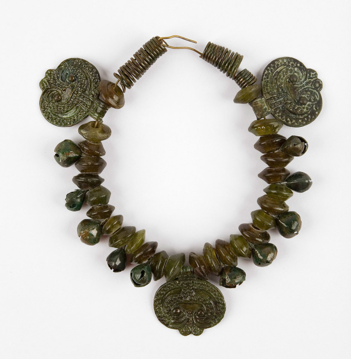 Necklace with glass beads and bronze appendages. Widohoszcz, Belarus. 11th-13th c. (©State Archaeological Museum of Warsaw)
