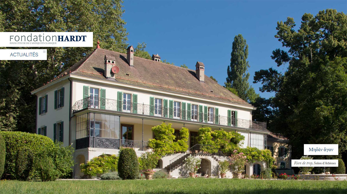 The Hardt Foundation is located in an elegant 18th c. villa.