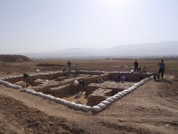 Remains revealed at the Rivi site. Credit: Iran Daily