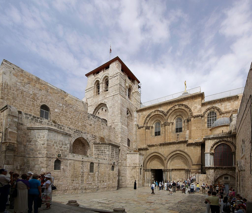The façade of the Church of the Holy Sepulchre in Jerusalem (photo: Wikipedia).
