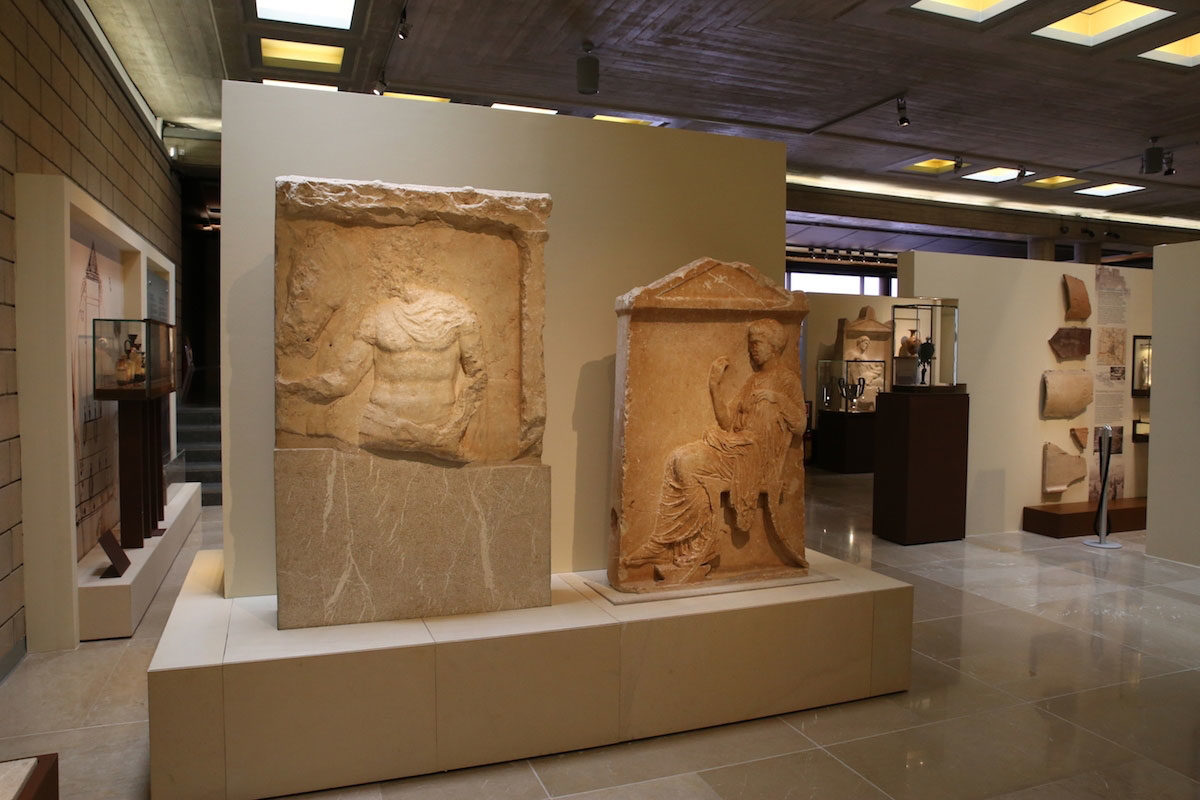 Archaeological Museum of Thebes. View of the exhibition of the classical era.