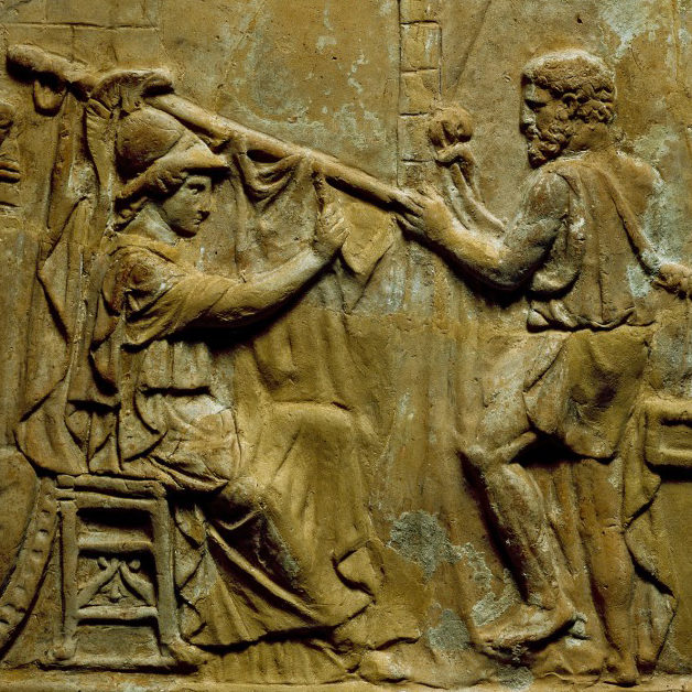 Campana relief: buidling of the Argo (detail), Roman, Porta Latina, 1st century (?), Photo: © The Trustees of the British Museum