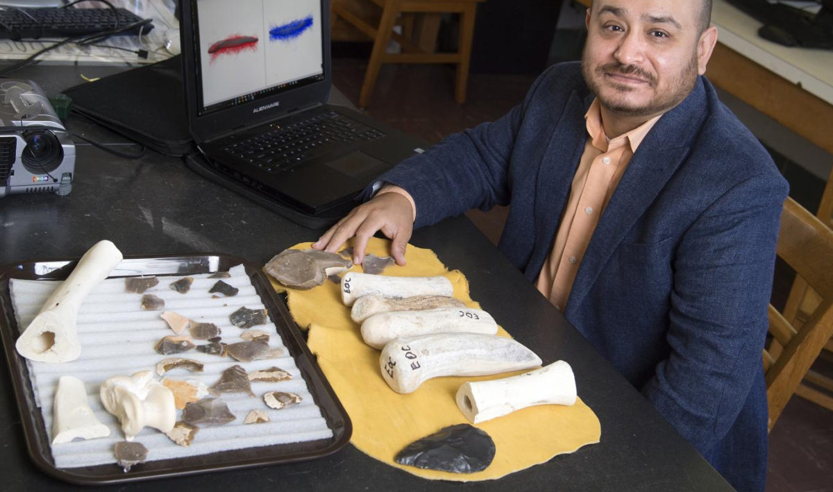 Researchers, led by a Purdue University anthropology professor, have found that statistical methods and 3D imaging can be used to accurately measure animal bone cut marks made by prehistoric human butchery, and to help answer pressing questions about human evolution.