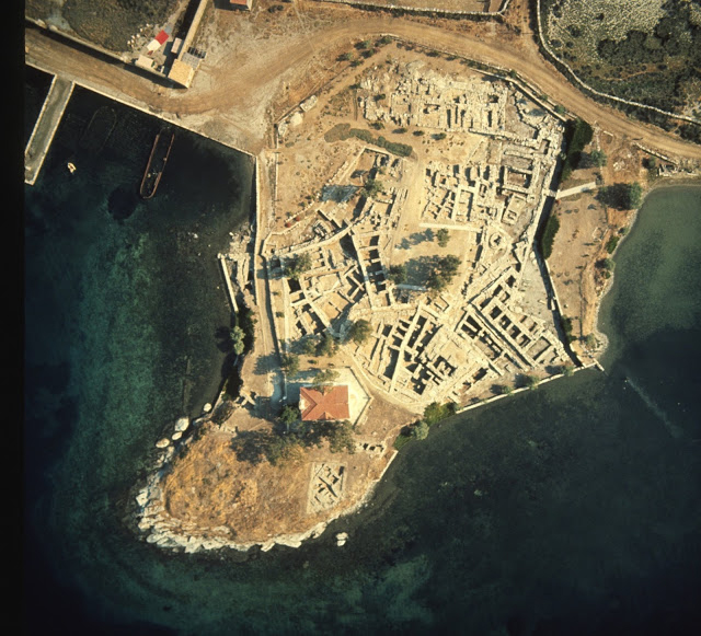 The excavation of the site of Ayia Irini on the island of Kea, where the samples used in the study were found. Credit: Department of Classics, University of Cincinnati