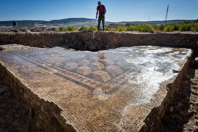 Mosaic floor of a Roman thermal bath (Credit: © Peter Jülich).