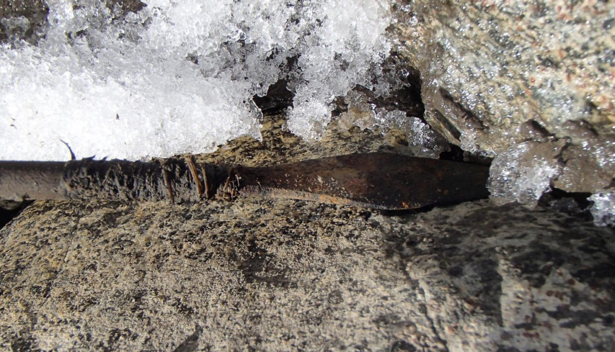 Ιron Age arrow from Trollsteinhøe used to study the relationship between climate variability and how humans used alpine landscapes in the past. Credit: James H. Barrett