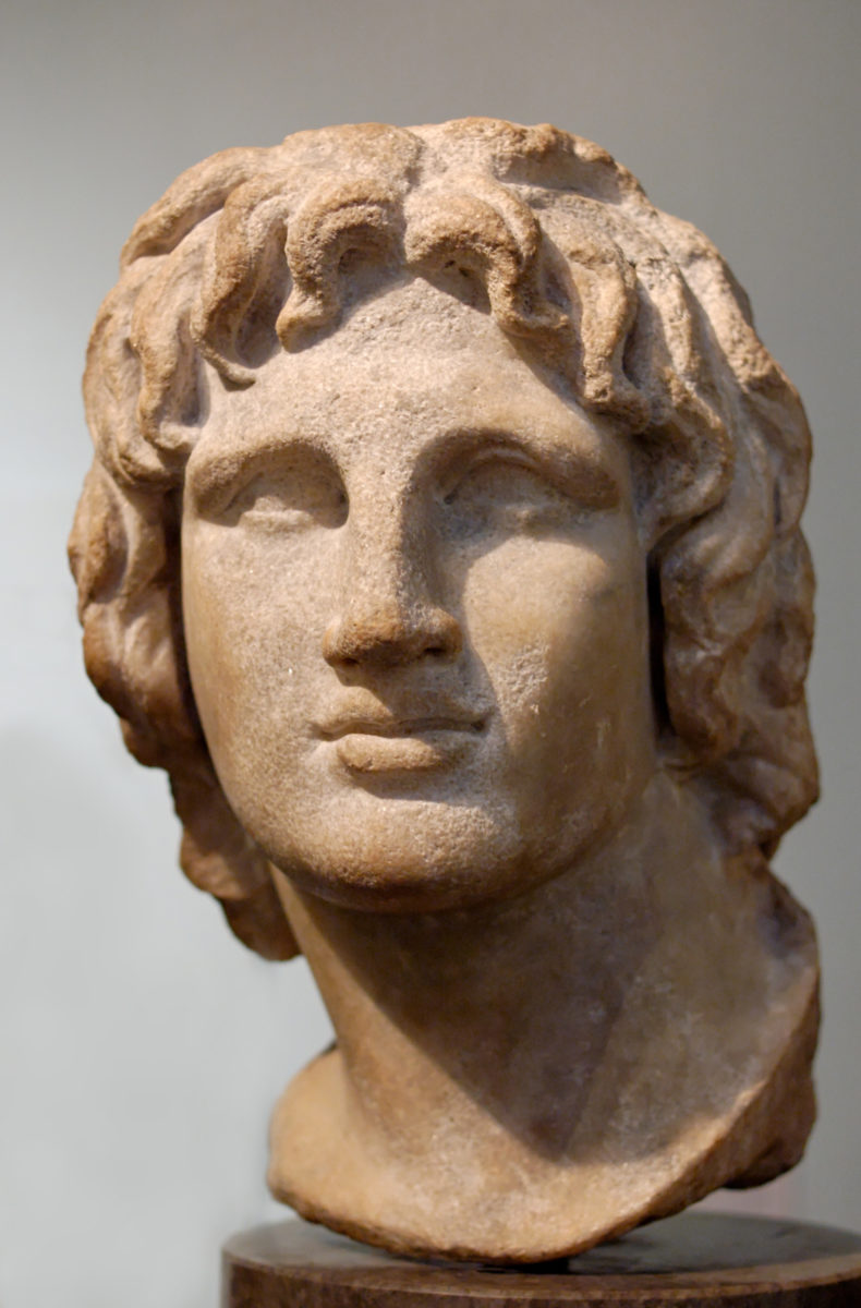 Portrait of Alexander the Great. Marble, Hellenistic artwork, 2nd-1st century BC. Said to be from Alexandria, Egypt.
