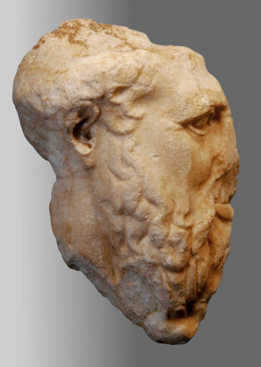 The centaur's head.