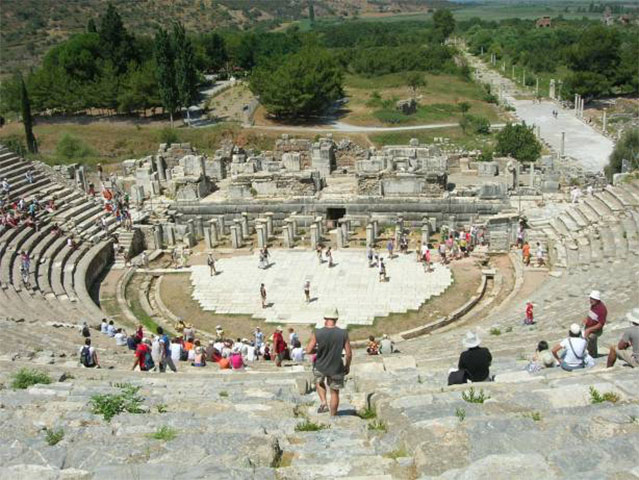 The ancient theatre of Ephesus.