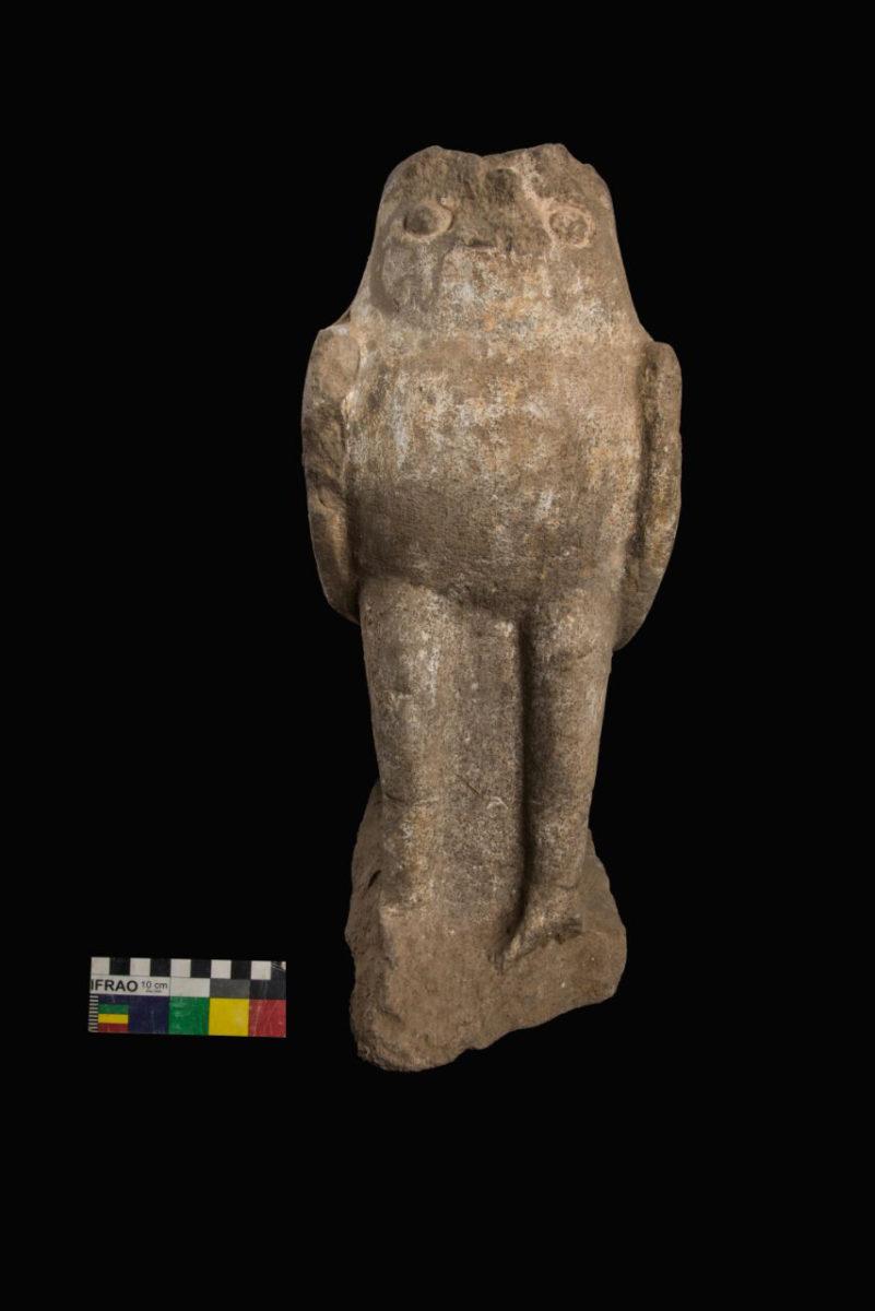 Horus statue.