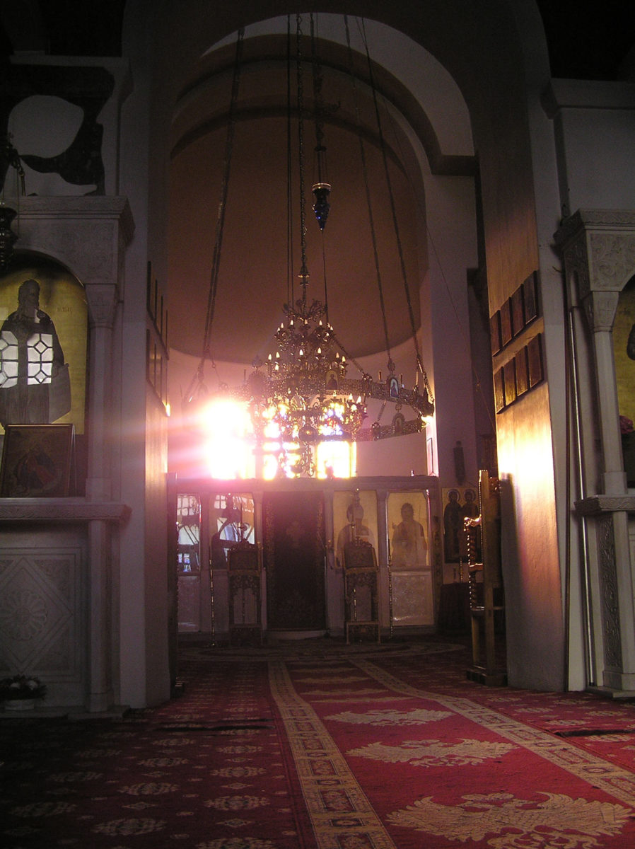 Fig. 15. Morning sunbeam from the windows of the sanctuary (at 08:53 in December).