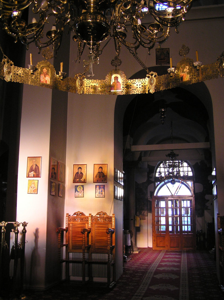 Fig. 16. Morning sunbeam from the windows of the sanctuary across the central axis (at 08:53 in December).