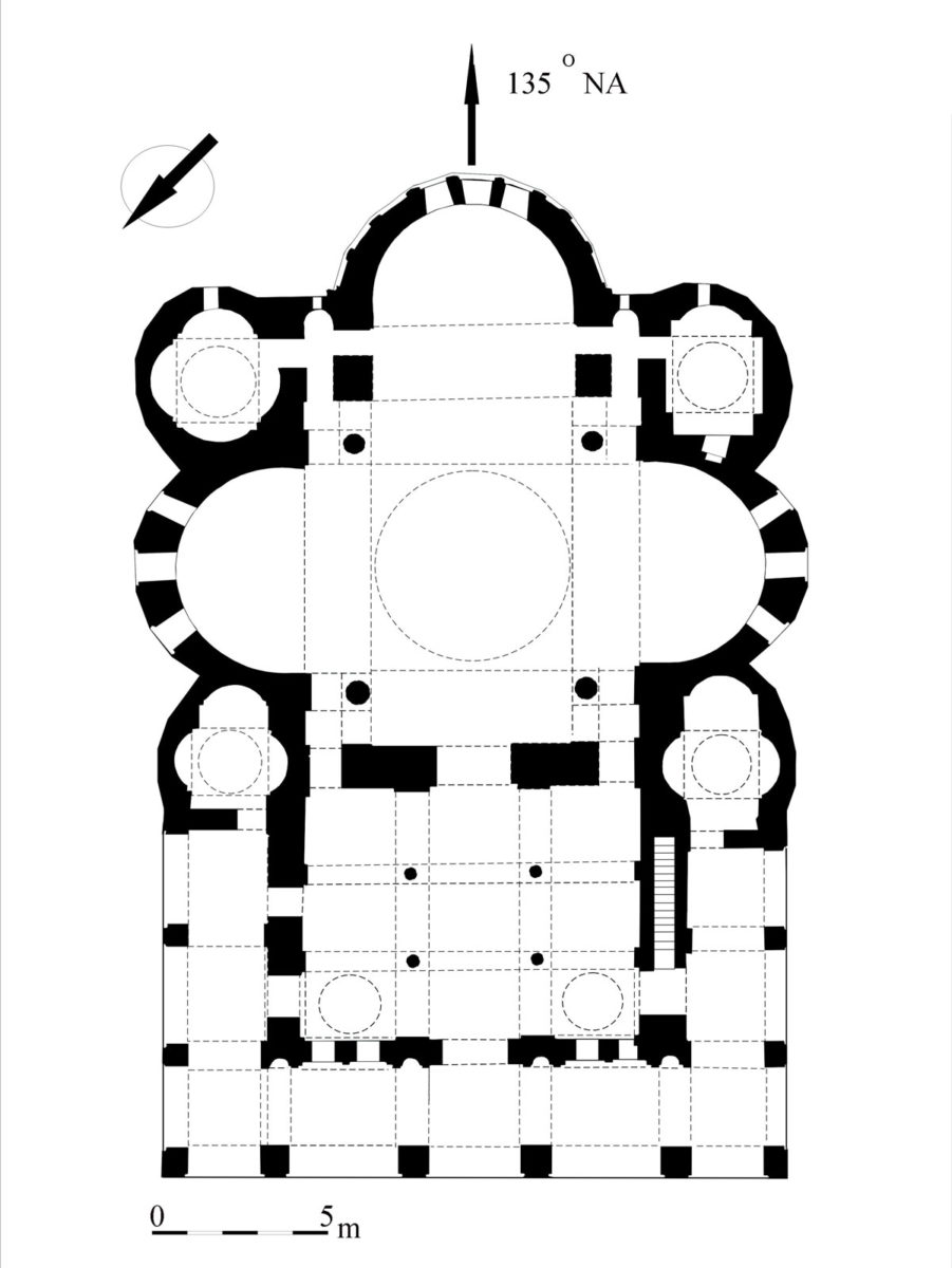 Fig. 2. Plan of the church of Elijah the Prophet. Archive of the Ephorate of Antiquities of Thessaloniki City.