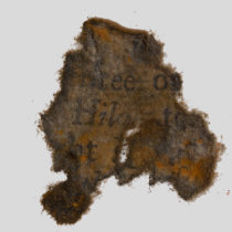 Fragments of pirate paper discovered and conserved from Queen Anne's Revenge