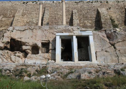 The choragic monument of Thrasyllus.