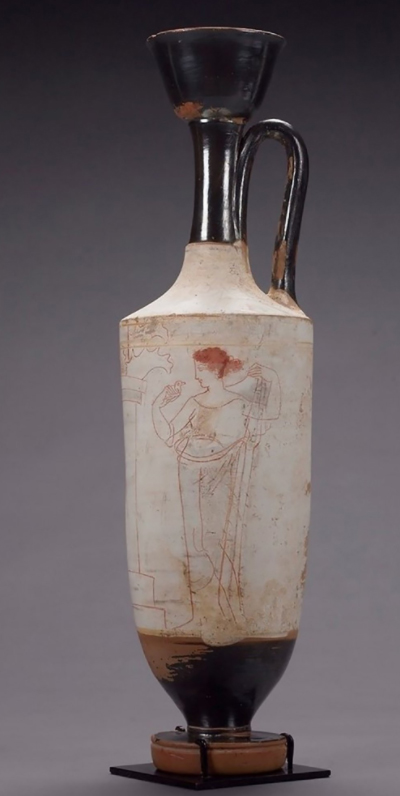 The 5th c. BC lekythos. Photo: New York Times