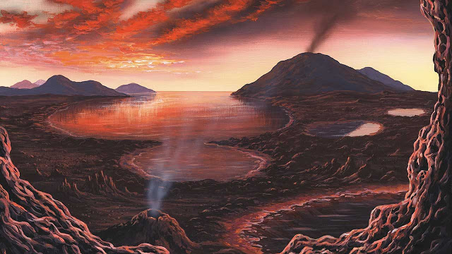 Chemists find key chemical reactions that support life today could have been carried out with ingredients  likely present on the planet four billion years ago. Credit: Richard Bizley/Science Source.