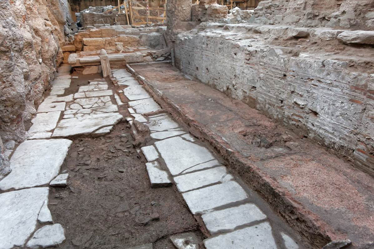 The monument which was built in the 4th century BC and was still in use throughout the 7th c. BC, was the main source of the city's water supply (photo: Athens and Macedonian News Agency).