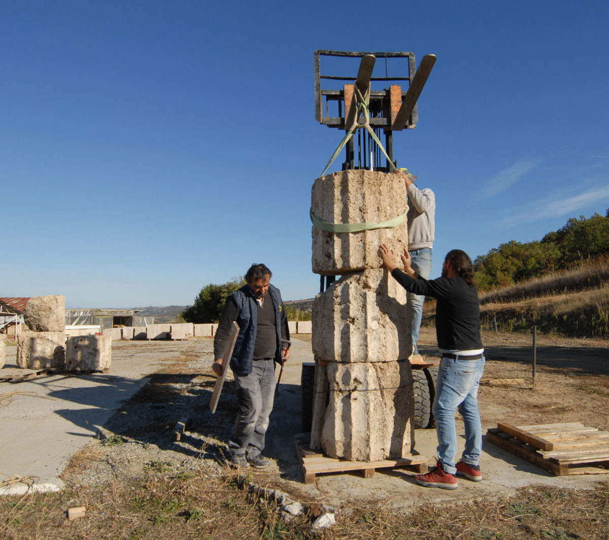 Restoration work continues at an intense pace in the palace of Aigai (photo: AMNA/A. Kottaridi).